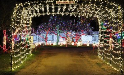 Holiday Light Display Brings True Meaning of Green Christmas to Johnson City