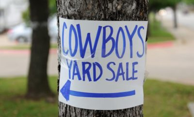 Dallas Cowboys to Hold 'First & Goal' Charity Yard Sale June 24