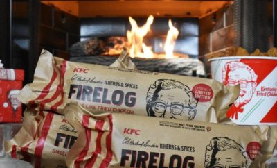 Limited-edition KFC Firelog Smells Just Like Fried Chicken