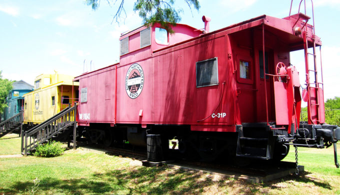 Why not bunk down in a cozy caboose?
