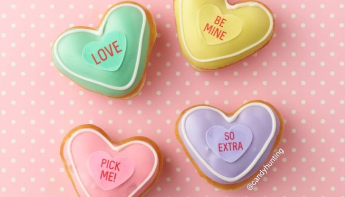 Krispy Kreme Heart-Shaped Conversation Donuts Are Here!