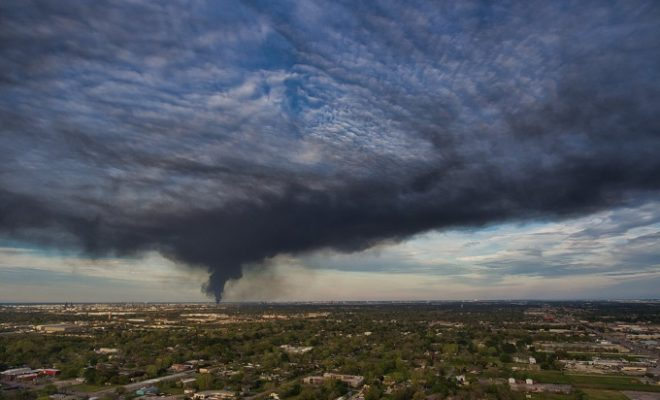 Petrochemical Fire Rages in Houston Suburb as Air-monitoring Continues