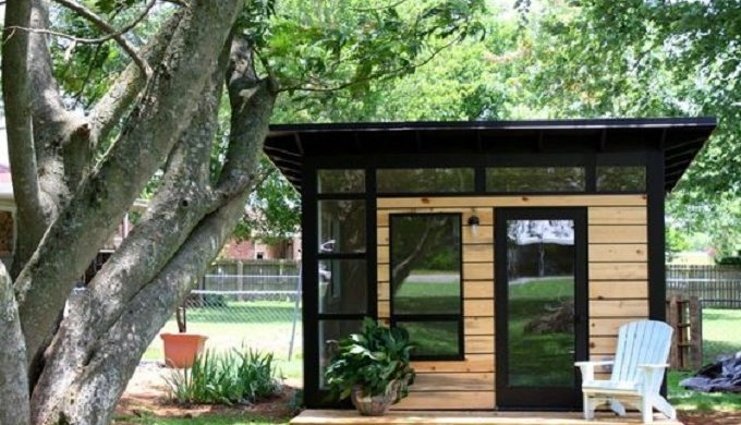 5 great 39 she sheds 39 for a hill country backyard for Prefab she shed