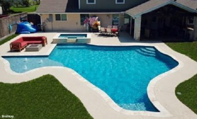 Pasadena Couple Installs Texas-Shaped Pool in Backyard