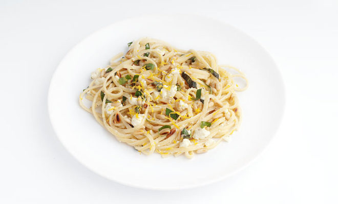 Linguine With Lemon, Feta, and Basil: Mouthwateringly Good