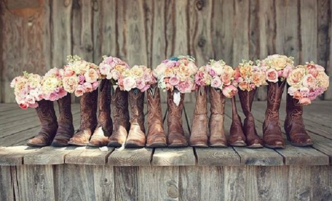 Cowboy Boot Flower Vases Add Color And A Touch Of Western Class