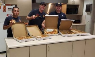 Accidental Pizza Order From Canada Feeds San Antonio Firehouse