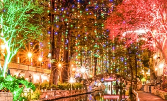 See the San Antonio River Walk Transformed with Christmas Lights!