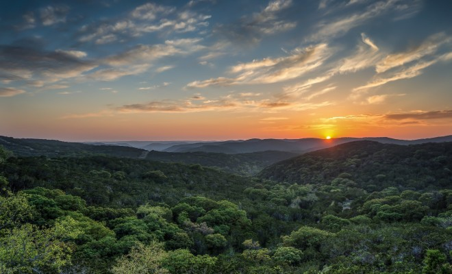 the texas hill country in 100 words or less