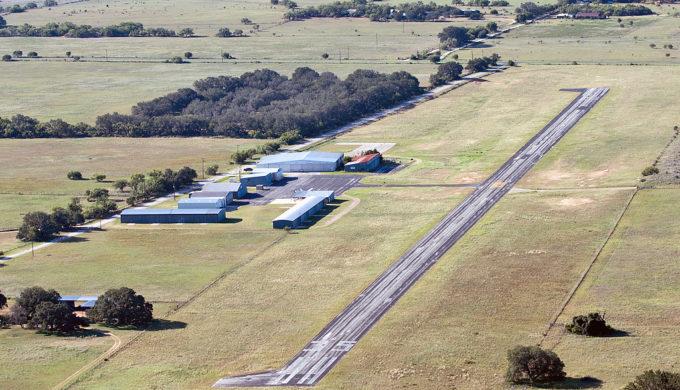 The municipal airport in Devine.