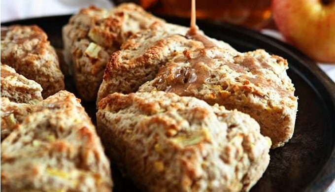 Apple Cider Recipes Apple Scones with Cinnamon Glaze