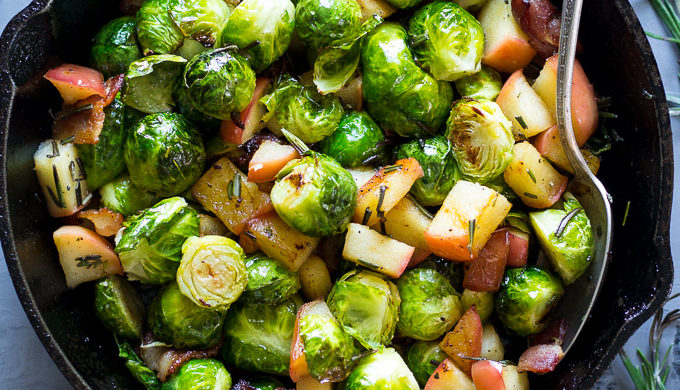 Apple Recipes Brussels Sprouts with Bacon and Apples