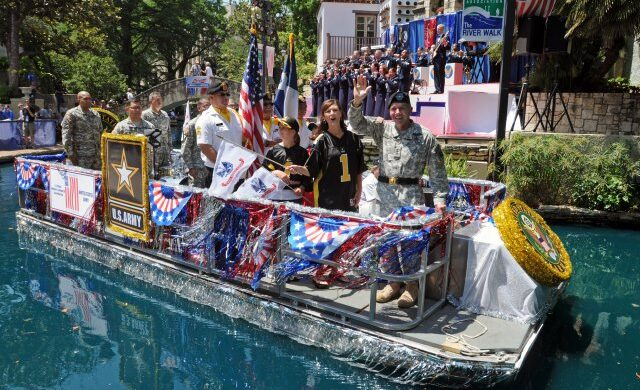 Armed Forces River Parade Float