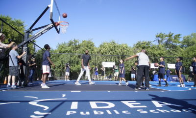 NBA All-Star Kevin Durant surprised students Thursday at IDEA Rundberg in Austin as part of BBVA Compass' Summer of Opportunity initiative to pay it forward through random acts of kindness. (PRNewsfoto/BBVA Compass)