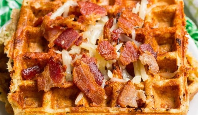 Bacon Makes Everything Better. Even These Zucchini Cheddar Waffles