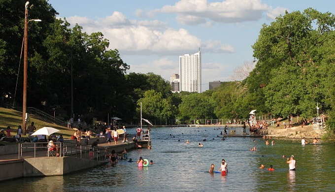 Barton Springs and other freshwater springs allowed for population growth in the area