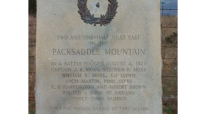 Battle of Packsaddle Mountain MarkerBattle of Packsaddle Mountain Marker