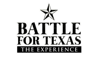 Battle for Texas - The Experience black and white logo