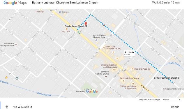 Fredericksburg Insider Church To Church Walk
