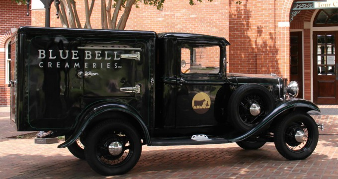 Blue Bell antique truck