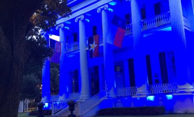 Governor's Mansion Greg Abbott Blue