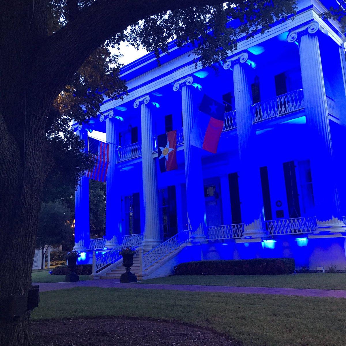 Governor's Mansion Greg Abbott Blue