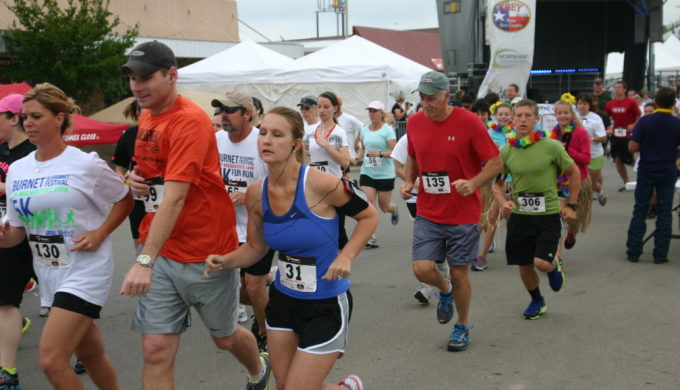 Burnet Bluebonnet Festival run