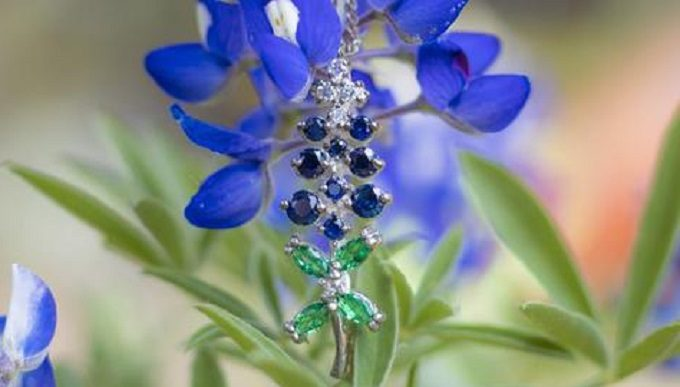 Give Her the Gift of Timeless Texas Beauty with our Bluebonnet Necklace