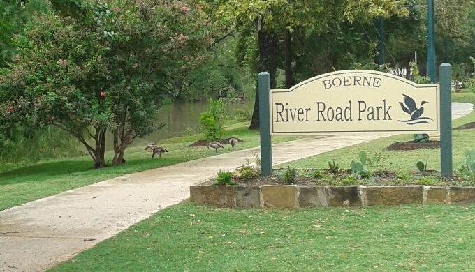 Boerne activities include a trip to River Road Park.