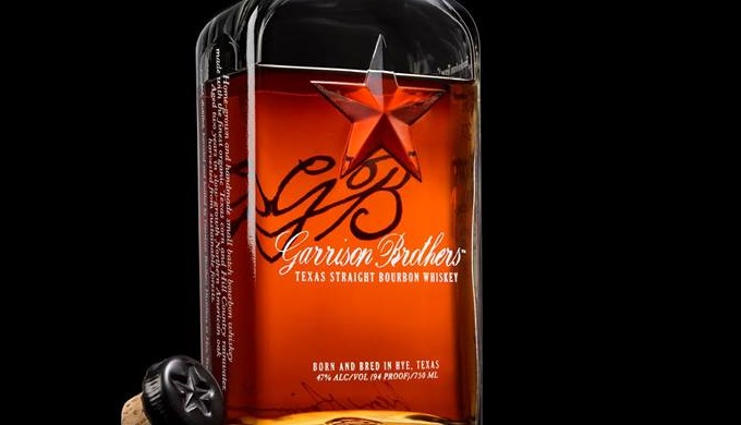 Bottle of Garrison Brothers Distillery's Texas Bourbon Whiskey