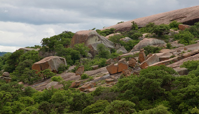 One of the areas of boulders that create mazes all over Enchanted Rock