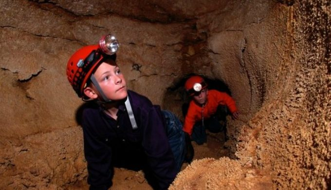 Boys at caverns
