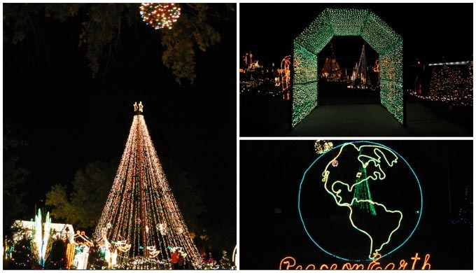 Marble Falls Christmas Lights.Marble Falls Walkway Of Lights Peacock Country