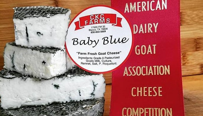 CKC Farms won second place in October 2016 for its blue cheese at the American Dairy Goat Association Cheese Competition.