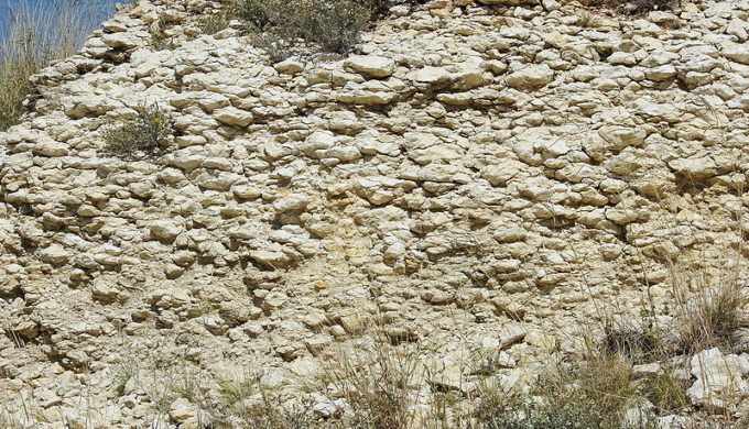 Caliche resembles limestone because both have calcium in them