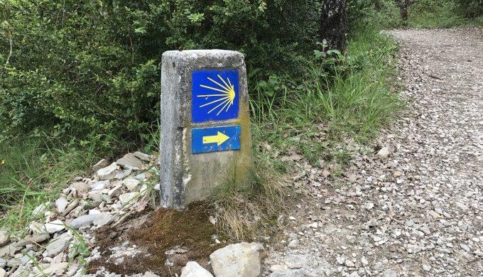 Camino Shell signpost