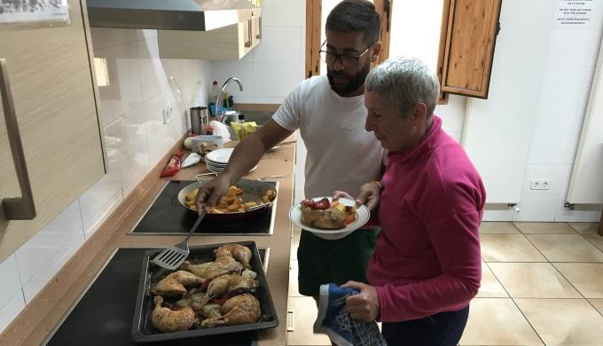 Auberge kitchen