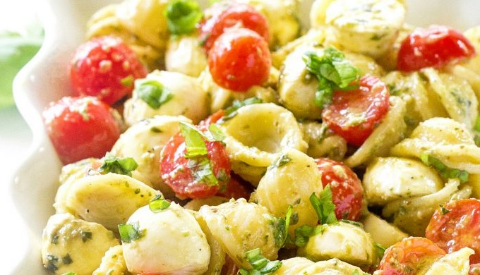 BBQ Sides Caprese Pesto Pasta Salad