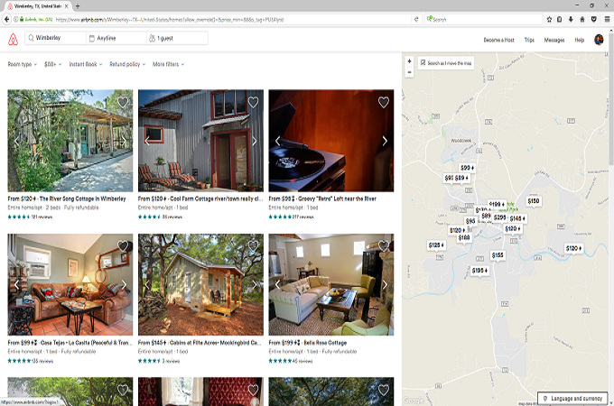 Airbnb offers many different choices for vacationing.
