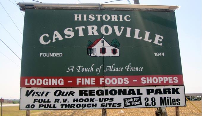 Castroville TX Sign