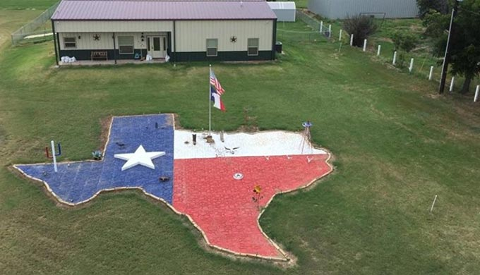 Check Out This Handmade Giant Lone Star