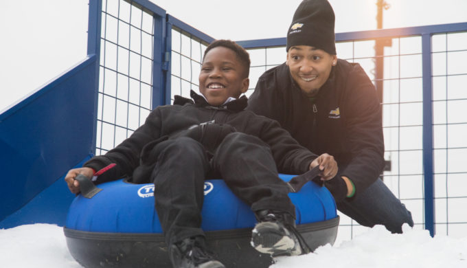 Chevrolet Brings Winter Wonderland to Boys & Girls Clubs Kids in Dallas!