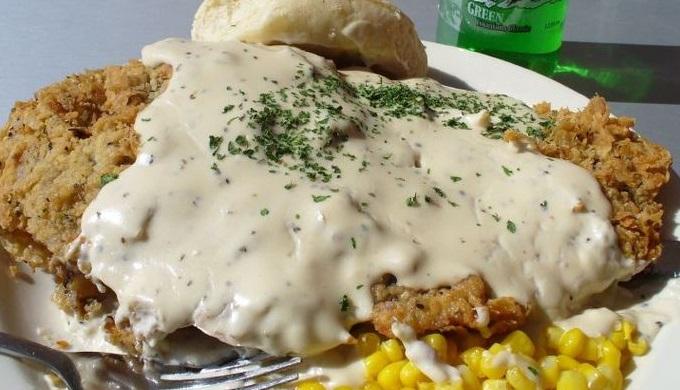 Chicken fried steak likely derives from schnitzel