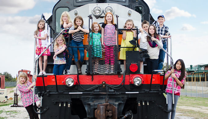 Children on Austin Steam Train