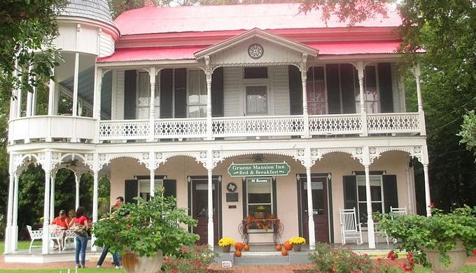 City names like Gruene often come from founders like Henry D Gruene who built this house.