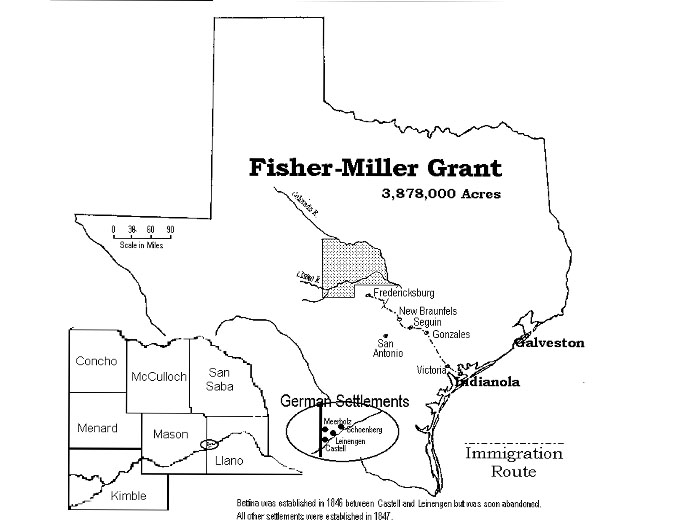 fishermiller land grant Texas Hill Country