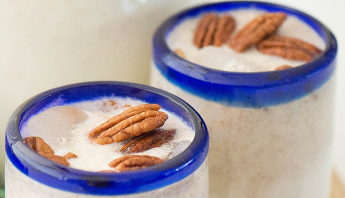 Coconut and Pecan Agua Fresca