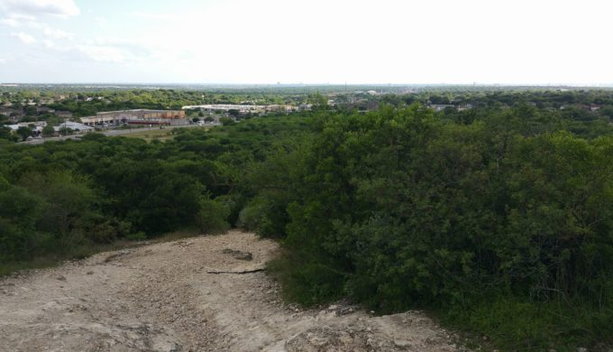 Comanche Lookout Park offers long-range views. Here you can see downtown San Antonio in the distance.
