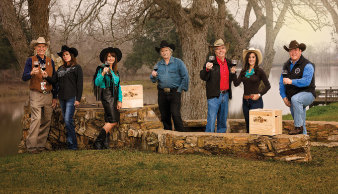 Members of Houston Livestock Show & Rodeo Wine Committee