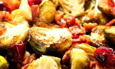 Cranberry recipes bacon roasted brussels sprouts with cranberries